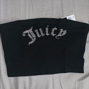 Juice couture rhinestone tube top